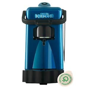 Macchina per il caffè Frog Didì Borbone blu su sfondo bianco