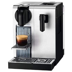 Macchina per il caffè De'Longhi Lattissima Pro su sfondo bianco