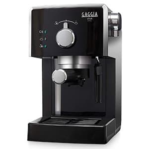 Macchina per il caffè nera Gaggia RI 8433/11 Viva Style su sfondo bianco