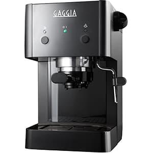 Macchina caffè Gaggia RI8423/12 Gran Gaggia Style nera su sfondo bianco